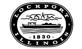 Lockport Illinois Seal in Black and White